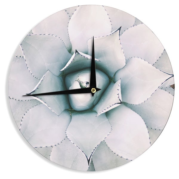 KESS InHouse Chelsea Victoria 'Northern Star ' Green Floral Wall Clock