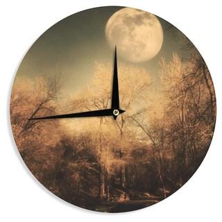 KESS InHouse Sylvia Coomes 'Full Moon ' Brown Nature Wall Clock