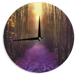 KESS InHouse Viviana Gonzalez 'Nostalgia' Purple Digital Wall Clock