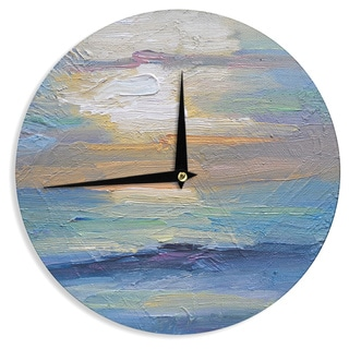 KESS InHouse Carol Schiff 'Ocean Sunset' Blue Coastal Wall Clock