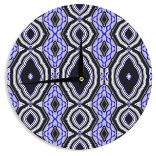 KESS InHouse Dawid Roc 'Inspired By Psychedelic Art 3' Purple Abstract Wall Clock