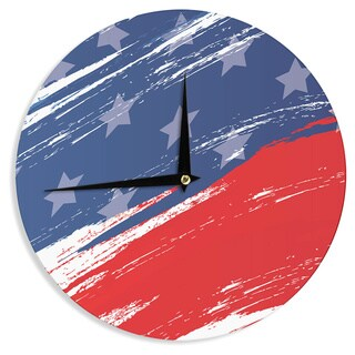 KESS InHouse NL designs 'Red White Blue' Red White Wall Clock