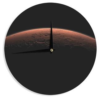 KESS InHouse Alias 'Martian Sunrise' Black Nature Wall Clock