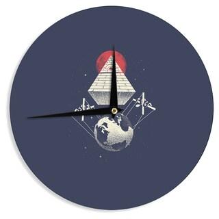 KESS InHouse Digital Carbine 'Under Control' Red Digital Wall Clock