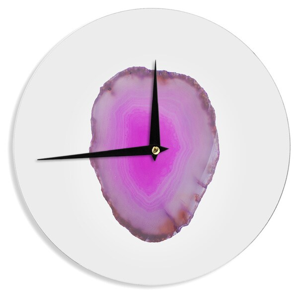 KESS InHouse Chelsea Victoria 'Agate' Magenta Nature Wall Clock