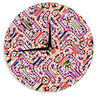 KESS InHouse Dawid Roc 'Camouflage Pattern 2' Multicolor Abstract Wall Clock