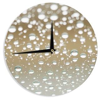 KESS InHouse Kristi Jackson 'Neutral Rain' Beige Nature Wall Clock