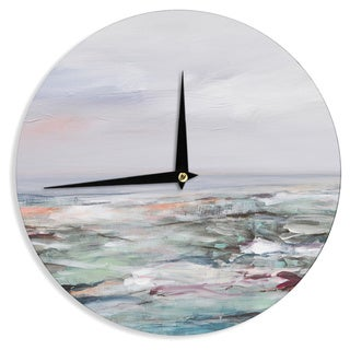 KESS InHouse Iris Lehnhardt 'Coastal Scenery' Pastel Abstract Wall Clock