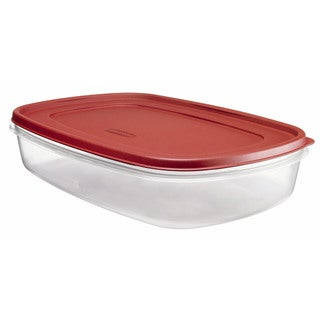 Rubbermaid 24 Cup Rectangle Easy Find Lid Food Storage Container