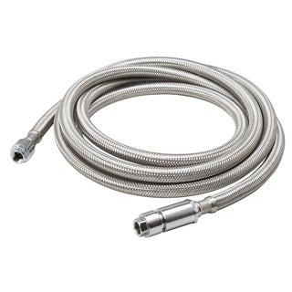 """B And K Industries 496-922EF 1/4"""" X 120"""" Braided Stainless Steel Ice Maker Connector"""