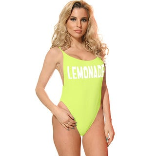 Dippin' Daisy's Yellow Lemonade Womens High-cut Vintage One-piece Swimsuit