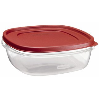 Rubbermaid 1777090 9 Cup Square Chili Red Easy Find Container