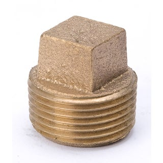 "B And K Industries 458-094NL 3/4"" Red Brass Square Head Pipe Plug"