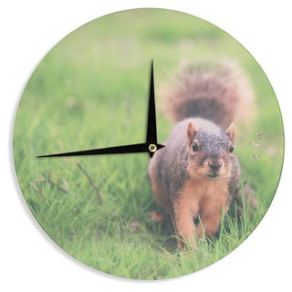 "Kess InHouse Angie Turner ""Squirrel"" Brown Animals Wall Clock 12"""