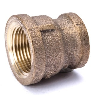"""B And K Industries 454-043NL 3/4"""" X 1/2"""" Red Brass Coupling Pipe"""