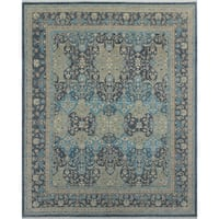 Noori Rug Yousafi Fine Chobi Sheikh Charcoal/Blue Rug - 8'1 x 9'9
