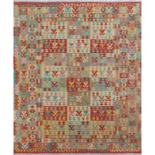 Kilim Adeena Rust-colored Wool Rug (8'3 x 9'8)