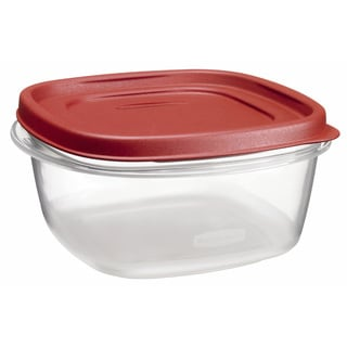 Rubbermaid 1777087 5 Cup Square Chili Red Easy Find Container