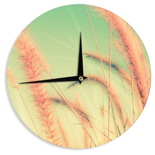 KESS InHouse Graphic Tabby 'Dancing In Spring' Pastel Nature Wall Clock