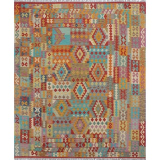 Kilim Friend Rust-colored Wool Rug (8'3 x 9'8)