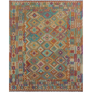 Kilim Munisa Rust Wool Rug (8'6 x 9'10)