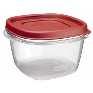 Rubbermaid 2 Cup Square Chili Red Easy Find Container