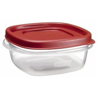 Rubbermaid 1.25 Cup Square Chili Red Easy Find Container