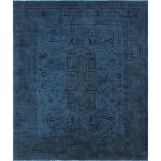Larmina Blue Wool Overdyed Rug (7'11 x 9'4)
