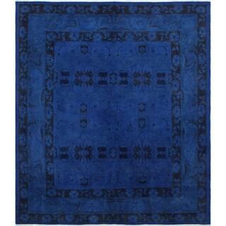 Noori Rug Overdyed Amine Ink Blue/Black Rug - 7'10 x 8'10