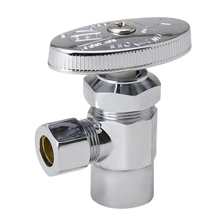 """B And K Industries 192-122HC 3/8"""" FIP X 3/8"""" OD Chrome Plated Multi Turn Valve Angle"""