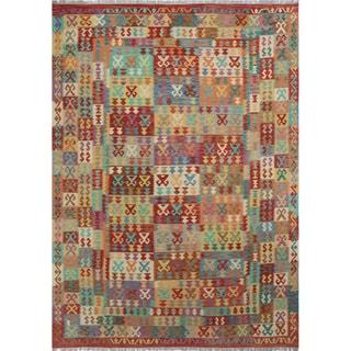 Kilim Nazanin Rust Rug (8'1 x 11'4)