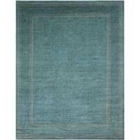 Noori Rug Overdyed Omayma Teal Blue/ Rug - 8'10 x 11'11