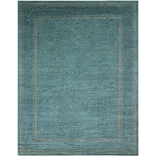 Overdyed Omayma Teal Blue Rug (8'10 x 11'11) - 8'10 x 11'11