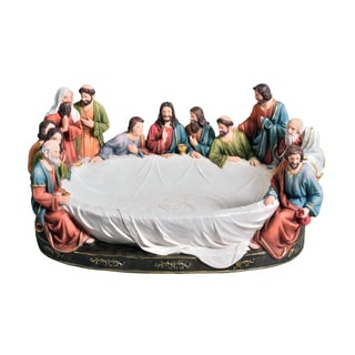 Last Supper 8-inch x 17-inch Fruit Bowl