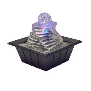 8-inch Spiral Ice Table Fountain with Multi Lights