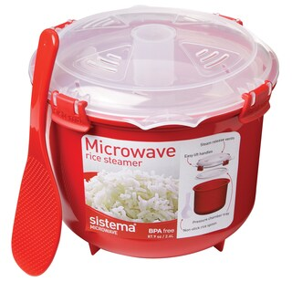 Sistema Microwavable Rice Steamer Assorted Colors