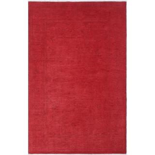 Noori Rug Overdyed Khordad Red/ Rug - 5'8 x 8'8