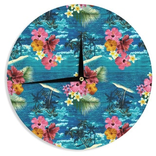 KESS InHouse Victoria Krupp 'Out Of Morocco' Black Abstract Wall Clock