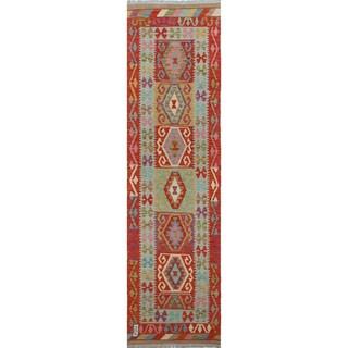Gulshoda Red Wool Kilim Rug (2'7 x 9'8)