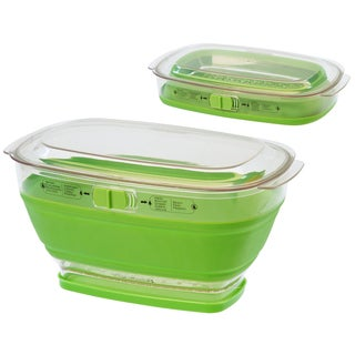 Progressive LKS-10 4 Quart Green Collapsible Produce Keeper