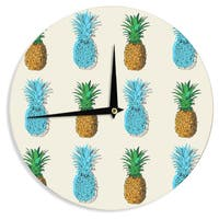 KESS InHouse KESS Original 'Fineapple' Food Abstract Wall Clock
