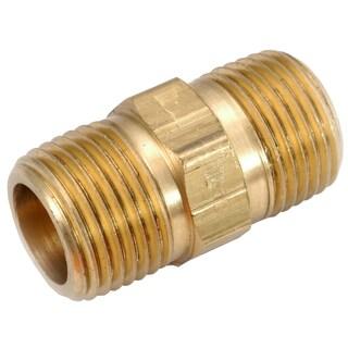 "Amc 756122-08 1/2"" Low Lead Brass Hex Nipple"