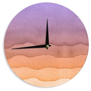 KESS InHouse KESS Original 'Ombre Sunrise' Orange Watercolor Wall Clock