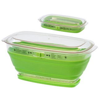 Progressive LKS-09 2 Quart Green Mini Collapsible Produce Keeper