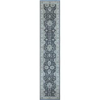 Peshawar Zineb Grey Rug (2'7 x 13'3)