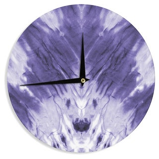 KESS InHouse KESS Original 'Violet Dye' Purple Digital Wall Clock