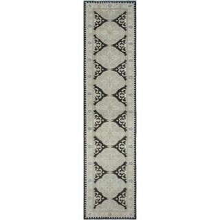 Peshawar Zuny Charcoal Rug (2'9 x 12'0)