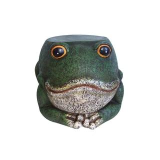 11-inch Frog Garden Stool Statuary