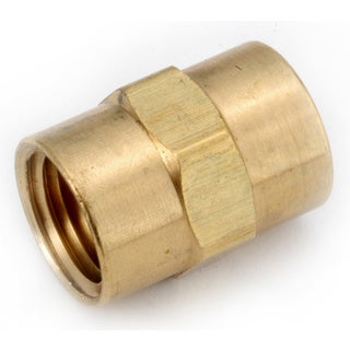 "Amc 756103-04 1/4"" Low Lead Brass Pipe Coupling"