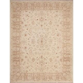 Peshawar Saladin Ivory Wool Rug (9'0 x 11'9)
